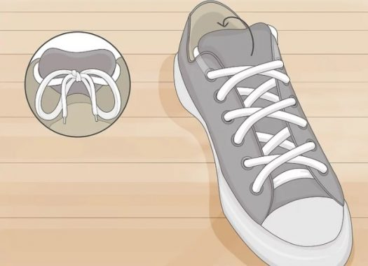 how to tie shoelaces without showing